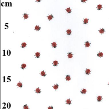 Tiny Ladybird Poly Cotton Fabric