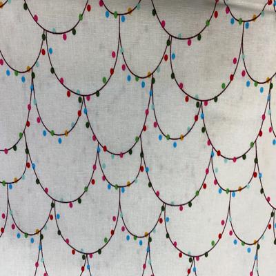 Christmas Lights Cotton Fabric
