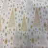 Metallic Christmas Trees Fabric