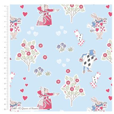 Alice In Wonderland Cotton Fabric Queen Of Hearts