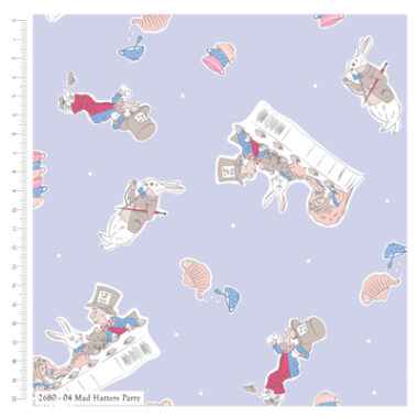 Alice In Wonderland Cotton Fabric Mad Hatters Party