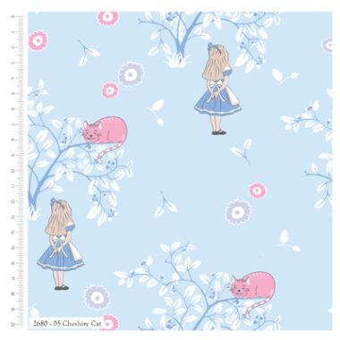 Alice In Wonderland Cotton Fabric Cheshire Cat