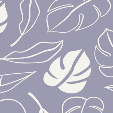 Botanical Jungle Leaves Lilac Cotton Fabric