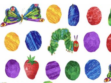 The Very Hungry Caterpillars Fabric