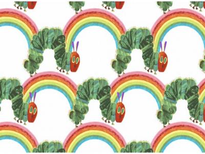 The Very Hungry Caterpillar Rainbow Fabric