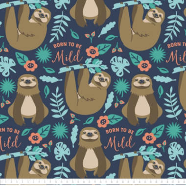 Born To Be Mild Cotton Fabric Camelot