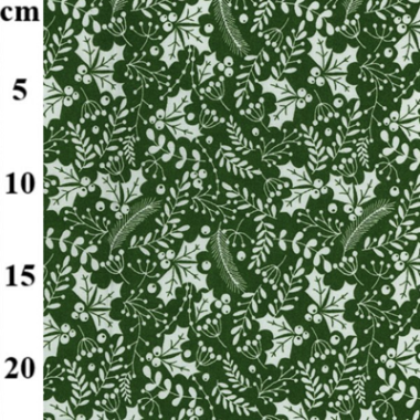 Holly And Mistletoe Rose and Hubble Cotton Fabric