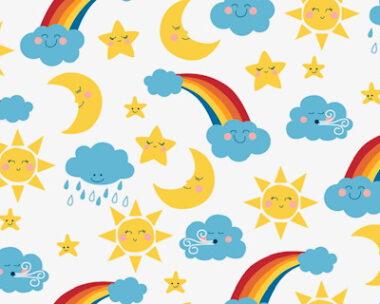 Happy Skies Cotton Fabric