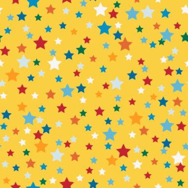 Stars Yellow Cotton Fabric