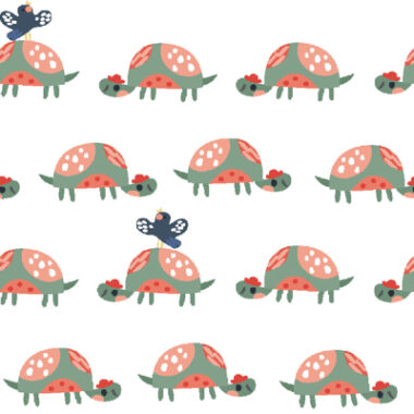 Tortoise and Butterfly Cotton Fabric