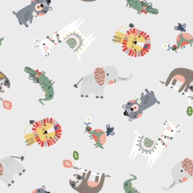 Assorted Animals Cotton Fabric