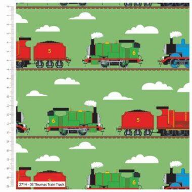Thomas The Tank Engine Train Track Together Cotton Fabric
