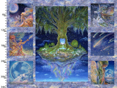 Celestial Journey Tree Panel 3 Wishes Cotton Fabric