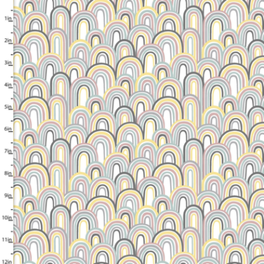 Small and Mighty Rainbows 3 Wishes Cotton Flannel Fabric