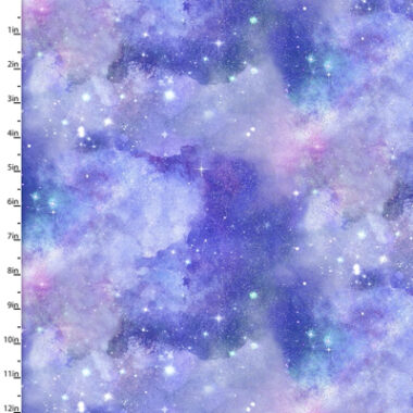 Magical Galaxy Quora 3 Wishes Cotton Fabric