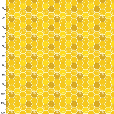 Feed The Bees Honeycomb 3 Wishes Cotton Fabric