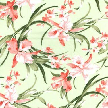 Lizzie Peached Print Dress Fabric