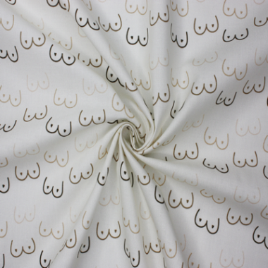 Boobies Cotton Fabric