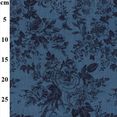 Rose Denim Fabric