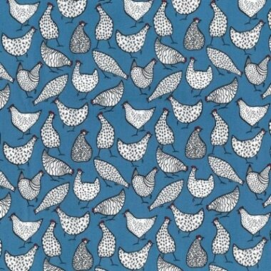 Hen Rose And Hubble Cotton Fabric