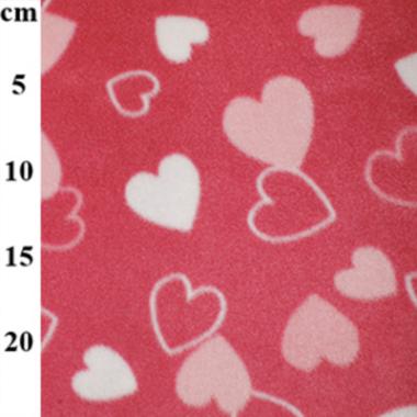 Loving Hearts Fleece Fabric