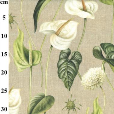 Botanical Digital Print Cotton Canvas Print Fabric