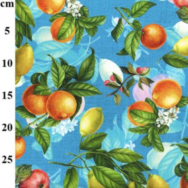 Fruit Garden Digital Print Cotton Canvas Print Fabric