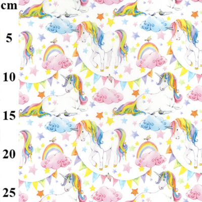 Unicorn Cloud Cotton Fabric