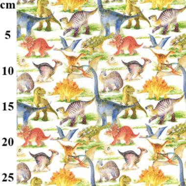 Dinosaur Park Cotton Fabric