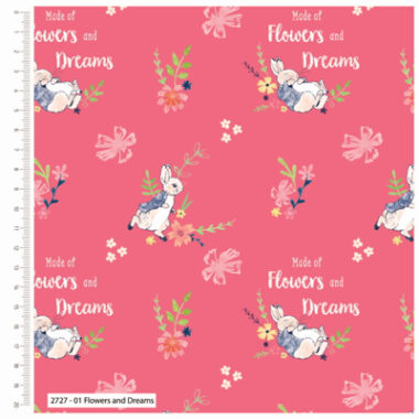 Peter Rabbit Flowers and Dreams Cotton Fabric
