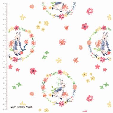 Peter Rabbit Floral Wreath Cotton Fabric