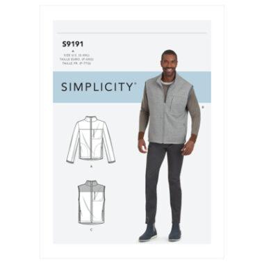 Simplicity Sewing Pattern S9191 Men's Vests & Jacket
