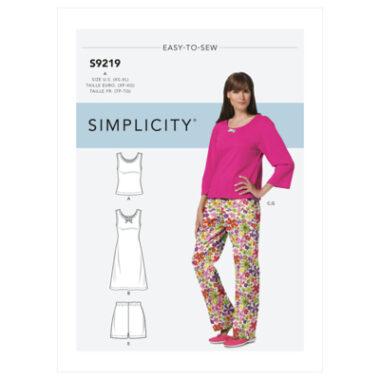 Simplicity Sewing Pattern S9219 Misses' & Misses' Petite Sleepwear