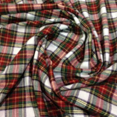Brushed Cotton Check Fabric