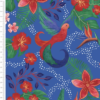Birds of Paradise Royal Cotton Fabric By Sarah Payne