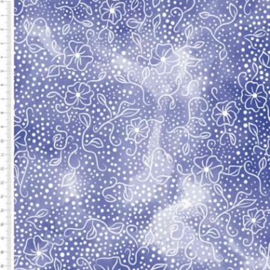 Flower Blender Royal Cotton Fabric By Sarah Payne