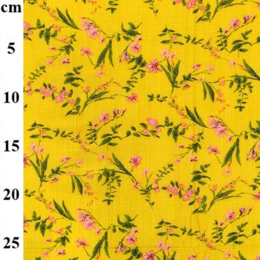Ochre Dilly Floral Linen Mix Dress Fabric