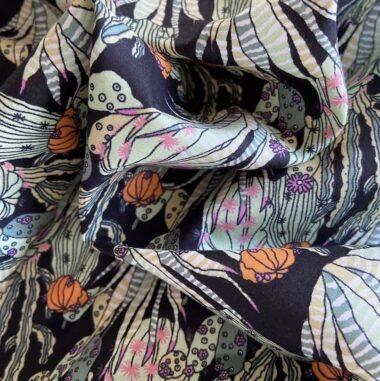 Cactus Silky Print Pima Lawn Dress Fabric
