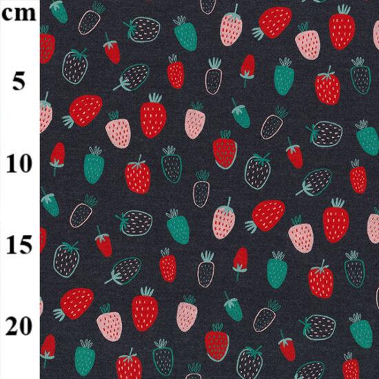 Strawberries Spandex Jersey John Louden Fabric