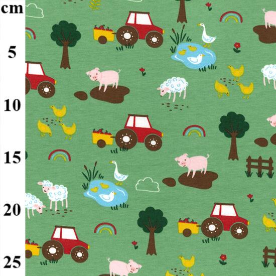 Old Macdonald Cotton Spandex Jersey John Louden Fabric