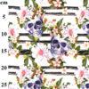 Floral Skulls Digital Jersey John Louden Fabric