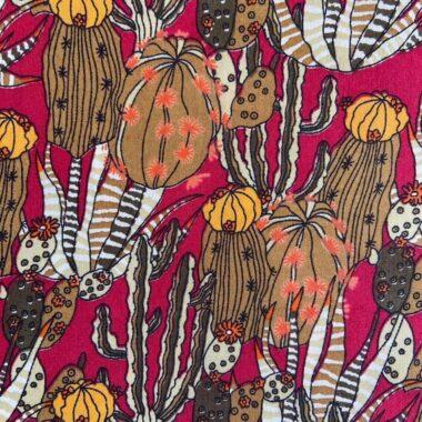 Rouge Cactus Silky Print Pima Lawn Dress Fabric
